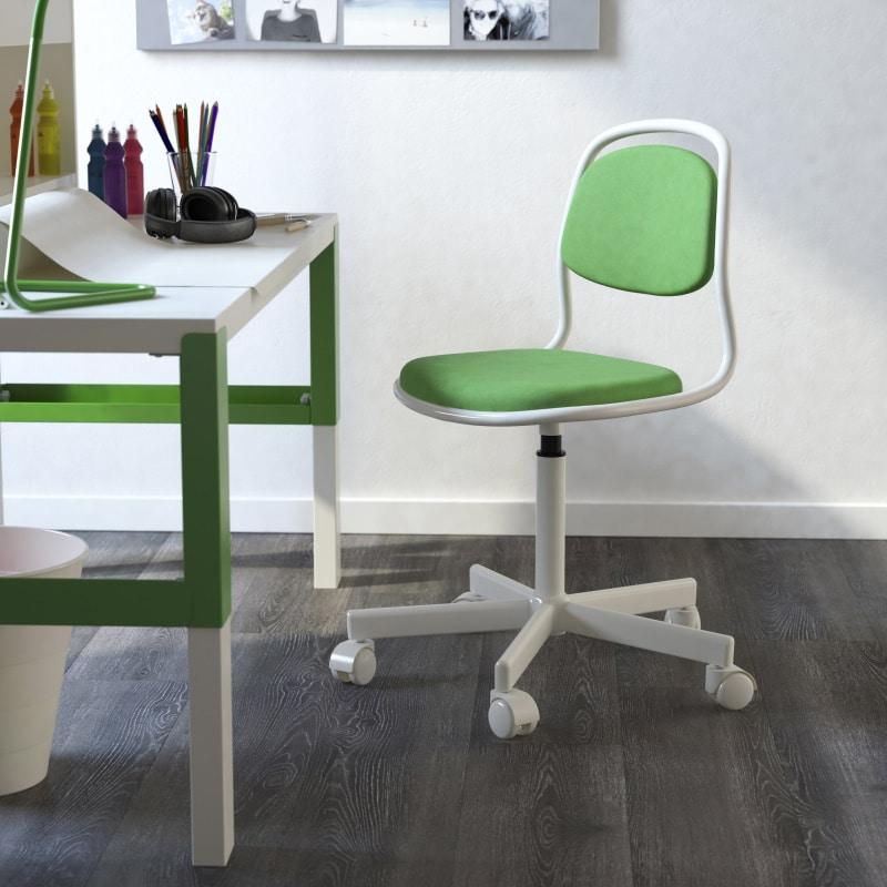 Pahl Kinderschreibtisch grün/weiß von IKEA mit passendem Kinderschreibtischstuhl